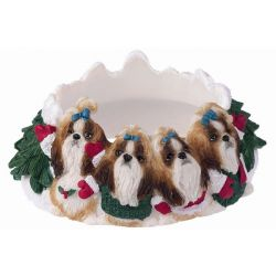 Shih tzu, tan and white Candle topper