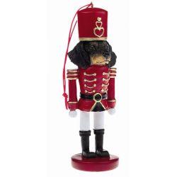 Dachshund, black Soldier ornament