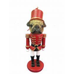 Pug, fawn  Nut Cracker Ornament