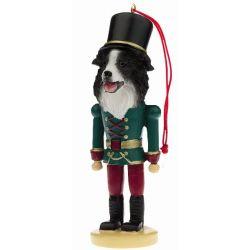 Border Collie Soldier ornament