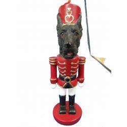 Great Dane, black  Nut Cracker Ornament