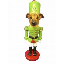 Greyhound, brindle Nut Cracker Ornament