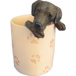 Labrador, Chocolate Pencil Holder