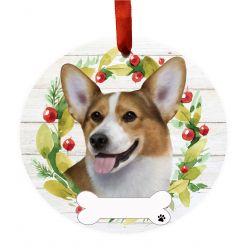 Welsh Corgi Ceramic Wreath Ornament