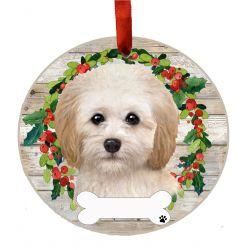 Cockapoo Ceramic Wreath Ornament