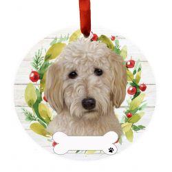 Goldendoodle Ceramic Wreath Ornament