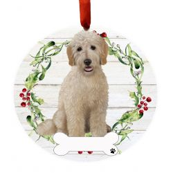 Goldendoodle, FB Ceramic Wreath Ornament