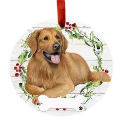 Golden Retriever, FB Ceramic Wreath Ornament