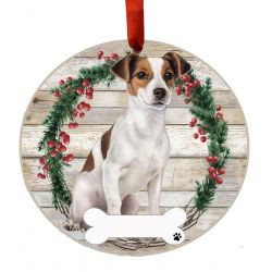 Jack Russell, FB Ceramic Wreath Ornament