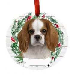 King Charles Cavalier Ceramic Wreath Ornament