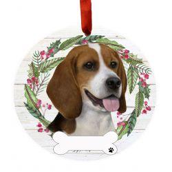Beagle Ceramic Wreath Ornament