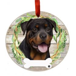 Rottweiler Ceramic Wreath Ornament