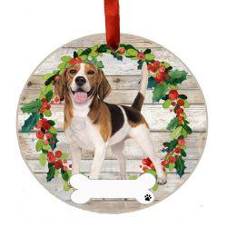 Beagle FB Ceramic Wreath Ornament