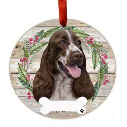 Springer Spaniel Ceramic Wreath Ornament