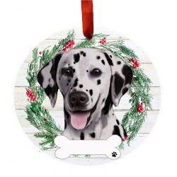 Dalmatian Ceramic Wreath Ornament