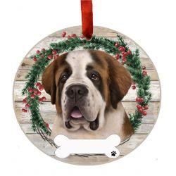 Saint Bernard Ceramic Wreath Ornament