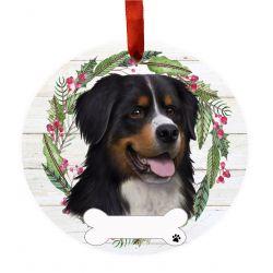 Bernese Mt. Dog Ceramic Wreath Ornament