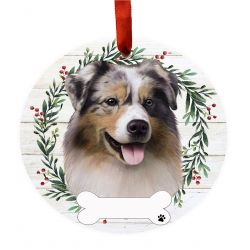 Australian Shepherd Ceramic Wreath Ornament