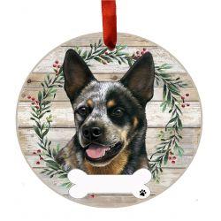 Australian Cattle Dog Ceramic Wreath Ornament