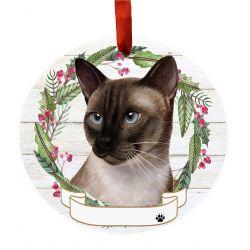 Siamese Cat Ceramic Wreath Ornament