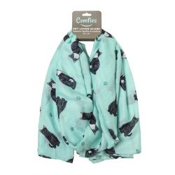 Black and white cat Pet Lover Scarves