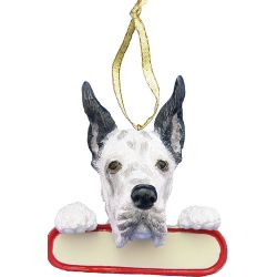 Harlequin Dane ornament