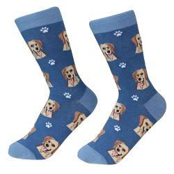 Labrador, yellow Socks