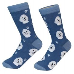 Poodle, white Socks