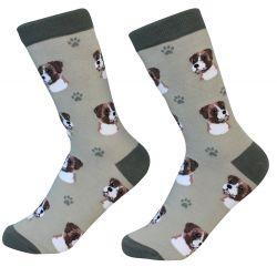 Boxer, uncropped Socks