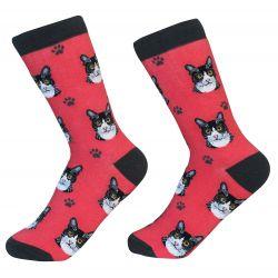 Black and White Cat Socks