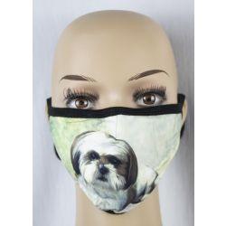 Shih Tzu, tan Face Masks