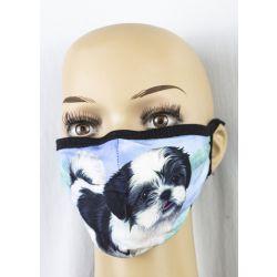 Shih Tzu, black Face Masks