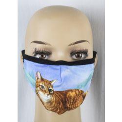 Cat, Tabby, silver Face Masks