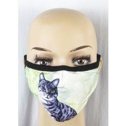 Cat, Tabby, orange Face Masks