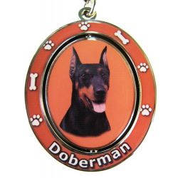 Doberman Dog Key Chain