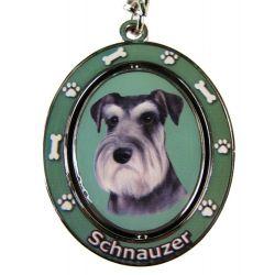 Schnauzer, uncropped Key Chain
