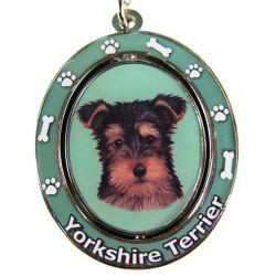 Yorkie pup Key Chain
