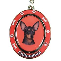 Chihuahua, black Key Chain