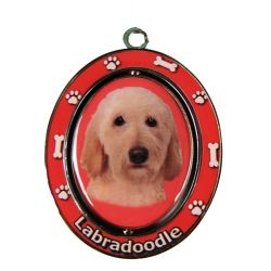 Labradoodle, yellow Key Chain