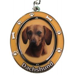 Dachshund, red Key Chain