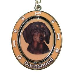 Dachshund, black Key Chain
