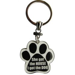 She got the house I got the dog