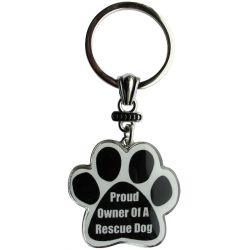 Proud owner of a rescue dog