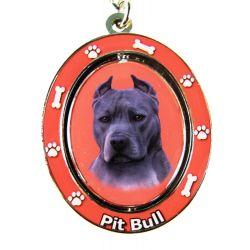 Pit Bull, Blue Key Chain
