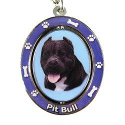 Pit Bull, Black Key Chain