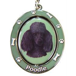 Poodle, black Key Chain
