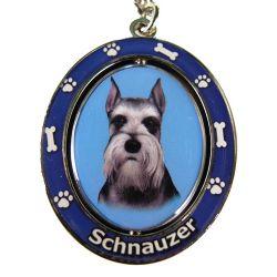 Schnauzer, cropped Key Chain