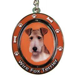 Wire Fox Terrier Key Chain
