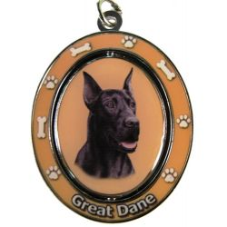 Great Dane, black Key Chain