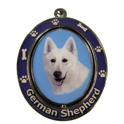 German Shepherd, White Key Chain